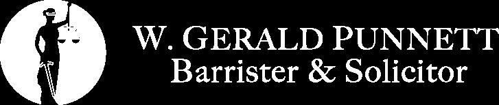 W. Gerald Punnett Barrister & Solicitor Logo